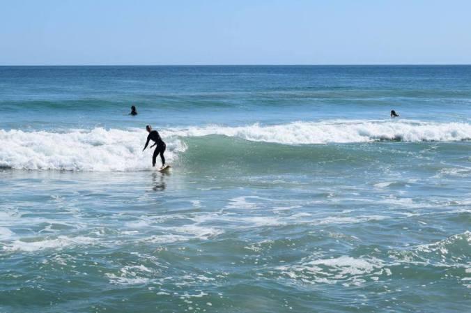 Kelsey Surfing
